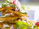 Potato Pancakes with Radishes recipe
