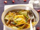 Potato Ravioli with Vegetable Broth recipe