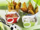 Potato Wedges with Two Dips recipe