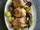 Poultry with Two Coloured Sprouts recipe