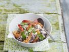 Prawns with Ricotta Cream and Quinoa recipe