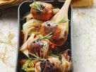 Prosciutto Rabbit Rolls with Wilted Salad recipe