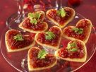 Puff Pastry Hearts with Tomato Spread recipe