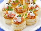 Puff Pastry Rounds with Smoked Salmon and Surimi recipe