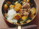 Pumpkin Gnocchi with Almond Cookies recipe