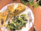 Pumpkin Quiche with Leek and Nettle recipe