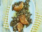 Quail with Lentil Salad recipe