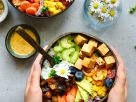 Rainbow Buddha Bowl with Teriyaki Tofu recipe