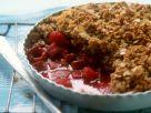 Raspberry and Rhubarb Crumble recipe