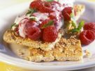 Raspberry Cheese on Crispbreads recipe