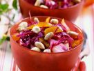 Red Cabbage Salad with Peanuts and Apples recipe