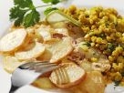 Red Lentils with Fried Potatoes recipe