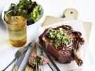 Rib Eye Steaks with Anchovy-Caper Butter recipe