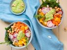 Rice Bowl with Chickpeas and Cashew Sauce recipe