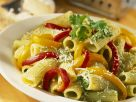 Rigatoni with Green Pesto and Bell Pepper recipe