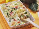 Risotto Gratin with Broccoli and Asparagus recipe