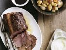 Roast Beef with Garlic and Onions recipe