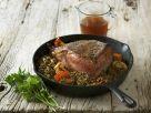 Roast Beef with Lentils recipe