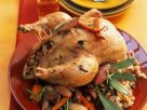 Roast Chicken with Wild Rice and Vegetable Stuffing recipe