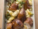 Roast Duck with Apples, Onions and Herbs recipe
