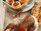 Roast Duck with Baked Apples recipe