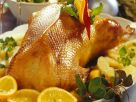 Roast Duck with Tropical Fruit and Stuffing recipe