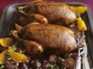 Roast Ducks with Onions and Oranges in Honey and Rosemary Marinade recipe