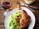 Roast Goose Leg with Spicy Cabbage recipe