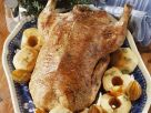 Roast Goose with Apples and Onions recipe