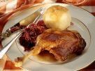Roast Goose with Cabbage and Dumplings recipe