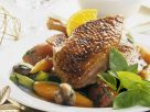 Roast Goose with Mixed Vegetables and Orange Sauce recipe