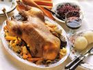 Roast Goose with Red Cabbage and Dumplings recipe