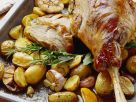 Roast Leg of Lamb with Rosemary Potatoes recipe