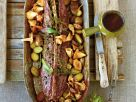 Roast Saddle of Venison with Chanterelles and Potatoes recipe