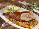 Roast Wild Boar with Sauerkraut and Potato Dumplings recipe