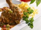 Roasted Hen with Peppers recipe