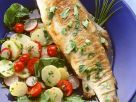 Roasted Trout with Colorful Potato Salad recipe