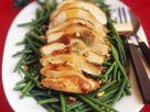 Roasted Turkey Breast with Green Beans recipe