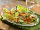 Romaine Lettuce with Red Lentils, Scallions, Apples and Walnuts recipe