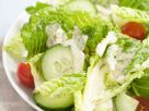 Romaine, Tomato and Cucumber Salad with Creamy Dressing recipe