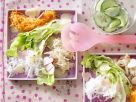 Salad Plate with Spicy Hearts recipe
