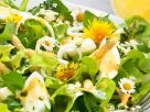 Salad with Asparagus, Eggs and Edible Flowers recipe