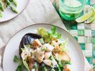 Salad with Asparagus, Salmon and Toast recipe