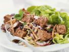 Salad with Red Cabbage and Croutons recipe