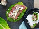 Salad Wraps with Turkey Ham and Radish recipe