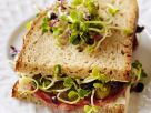 Salami, Cornichon and Radish Sprout Sandwiches recipe