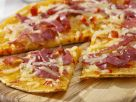 Salami Pizza Pancake recipe