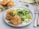 Salmon Burgers on Crispy Leeks recipe