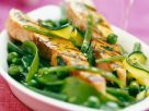 Salmon Fillet with Green Beans and Snow Peas recipe