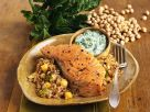 Salmon Steak with Chickpeas and Spinach recipe
